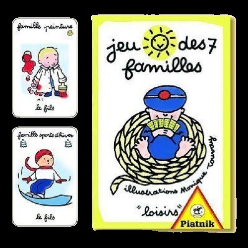 Jeu de 7 familles de la marque PIATNIK pour la fête des grands-mères